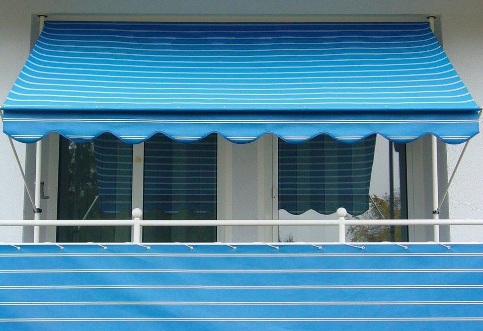 Balkonsichtschutz »Polyacryl, blau/weiß« in 2 Höhen in blau