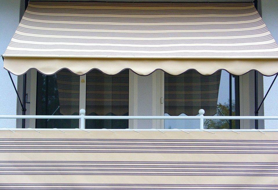 Balkonsichtschutz »Polyacryl, beige/braun« in 2 Höhen in braun