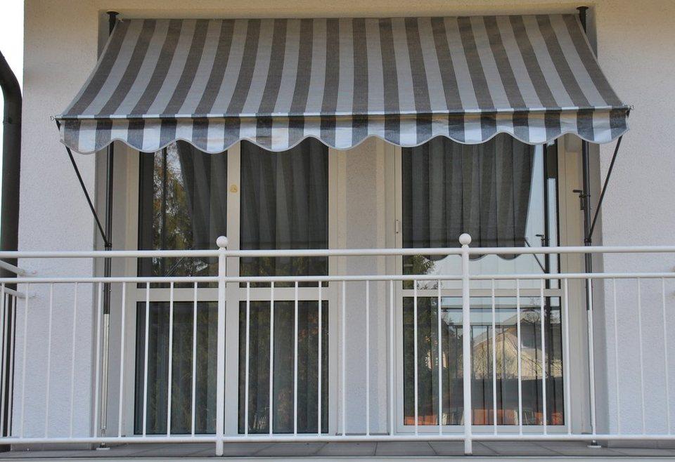 Balkonsichtschutz »Polyethylen, anthrazit« in 2 Höhen in grau
