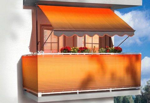 Balkonsichtschutz »Polyacryl, braun/orange« in 2 Höhen in braun