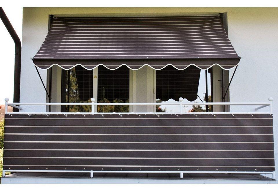 Balkonsichtschutz »Polyacryl, braun/weiß« in 2 Höhen in braun