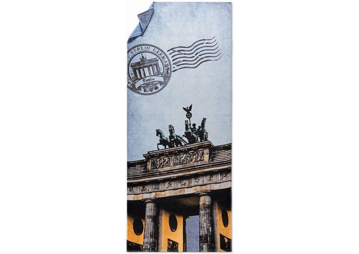 Strandtuch, Möve, »Brandenburger Tor«, in Postkarten-Optik