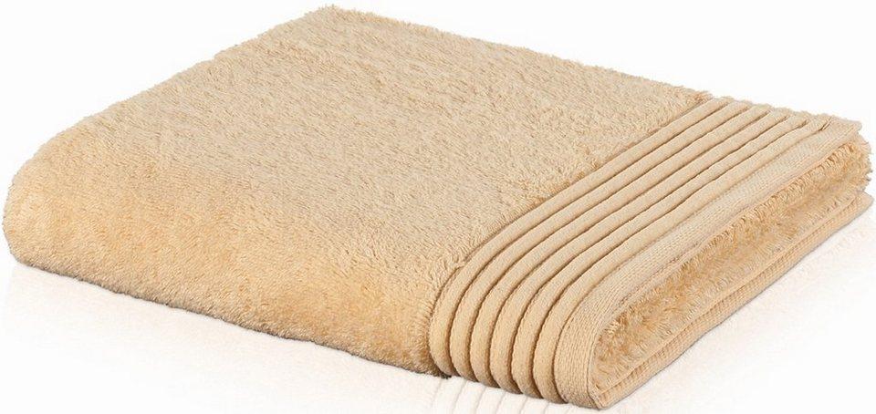 Handtuch, Möve, »Loft«, mit breiter Bordüre in pasta