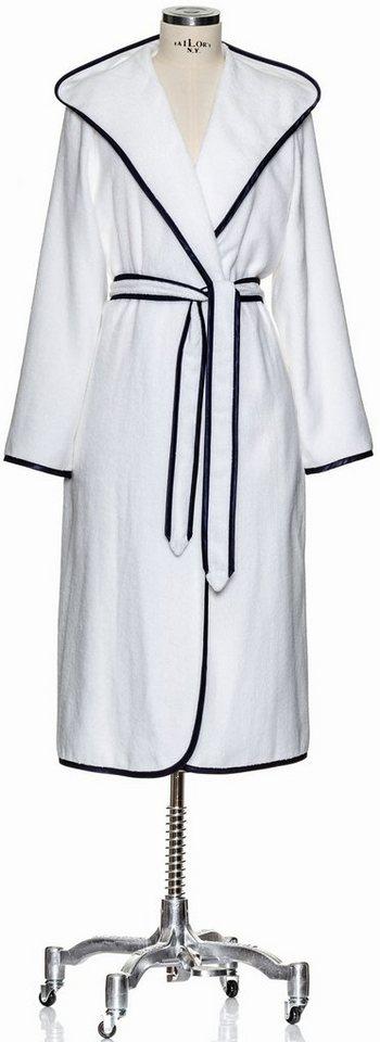 Damenbademantel, Möve, »Homewear Paspel«, elegante Farbkombination in weiß