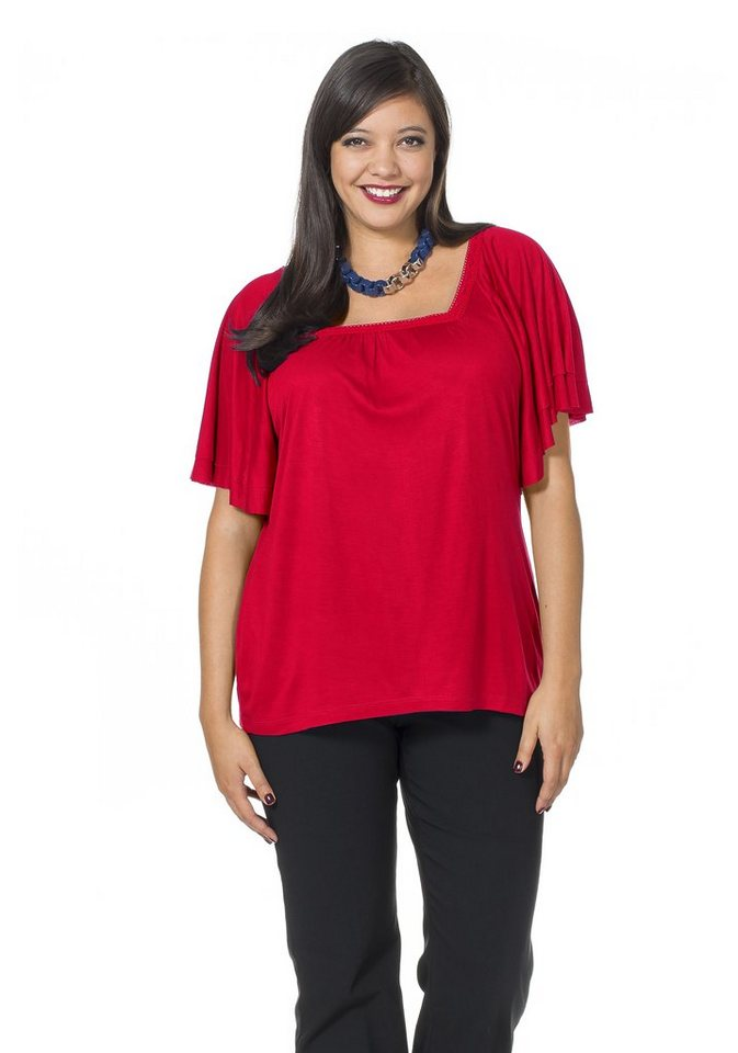 sheego Style Feminines Shirt in rot