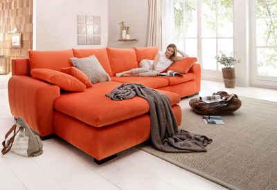 Home affaire Ecksofa »Cara Mia«, wahlweise mit Bettfunktion, in 2 Bezugsqualitäten