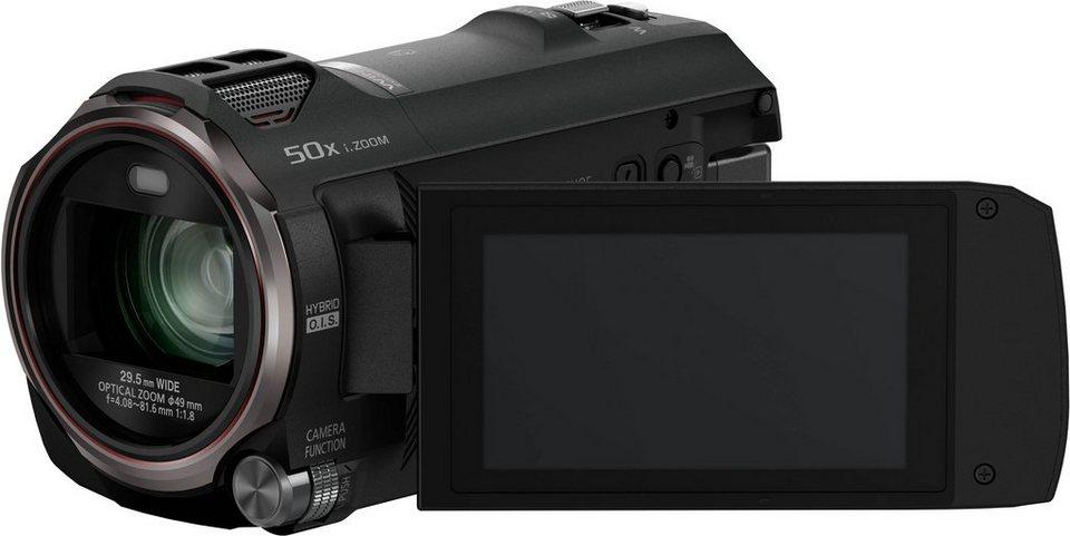 Panasonic HC-V777 1080p (Full HD) Camcorder, Videoleuchte, WLAN, NFC in schwarz