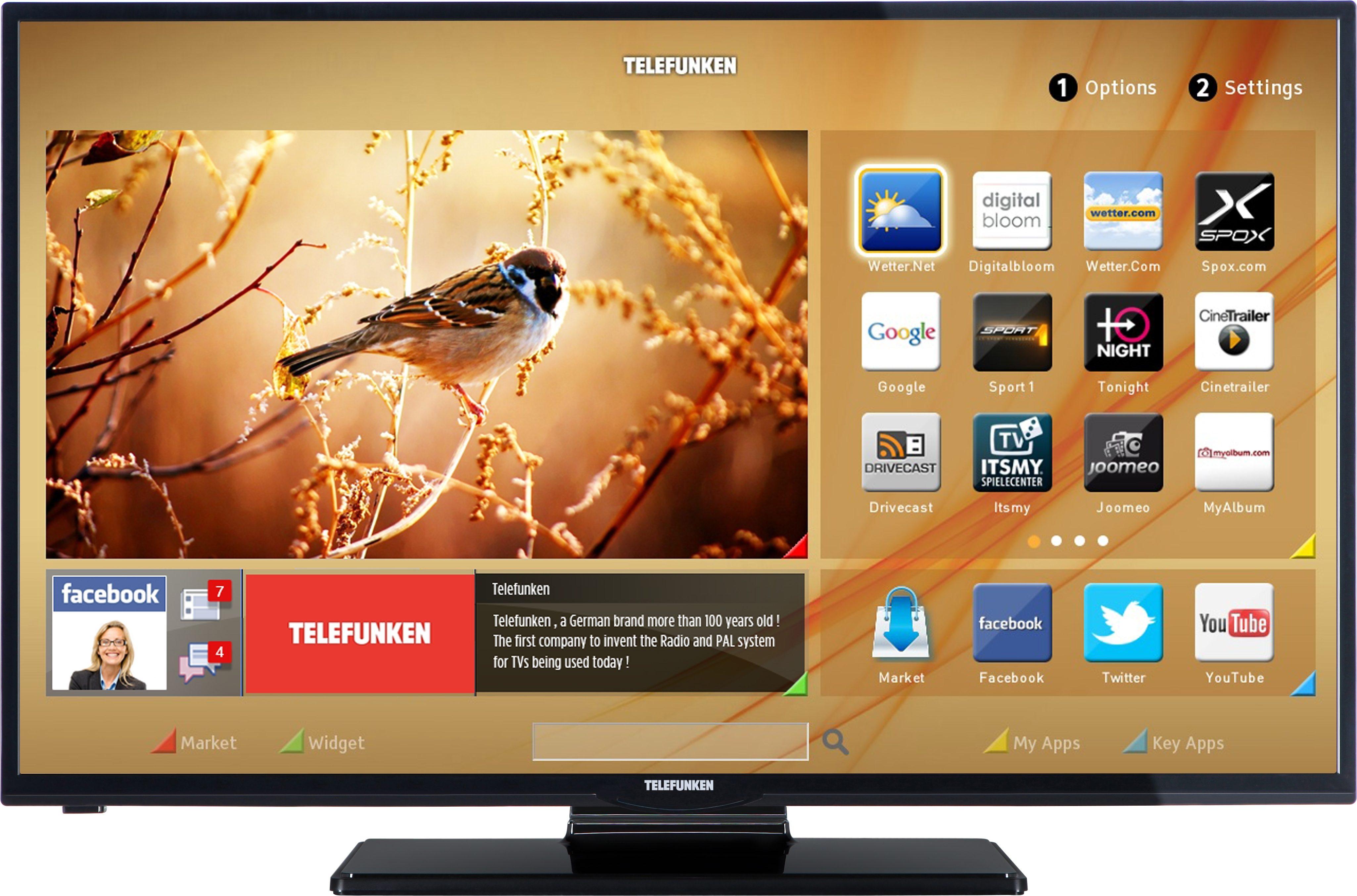 Telefunken D39F275M3C, LED Fernseher, 99 cm (39 Zoll), 1080p (Full HD), Smart-TV
