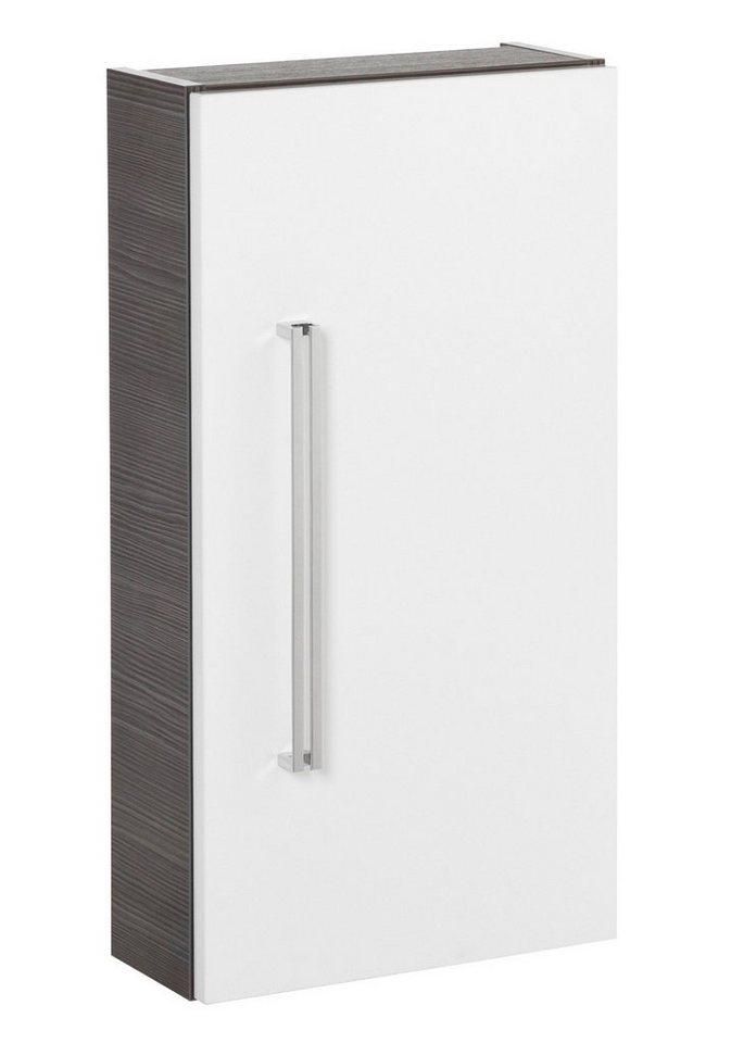 Hängeschrank »Lugano«, Breite 35 cm in piniefarben anthrazit/weiß