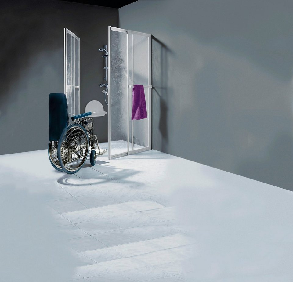 Eckdusche »Komplett-Set«, 100cm x 100cm in weiß