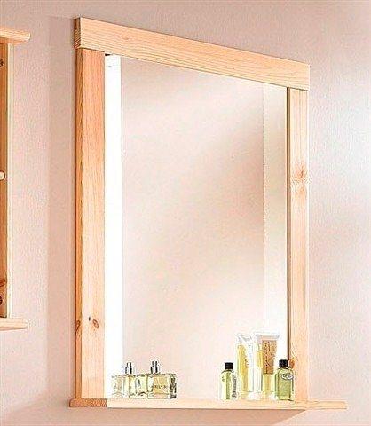 Spiegel / Badspiegel »Rügen« Breite 67 cm, mit Ablage in kiefer