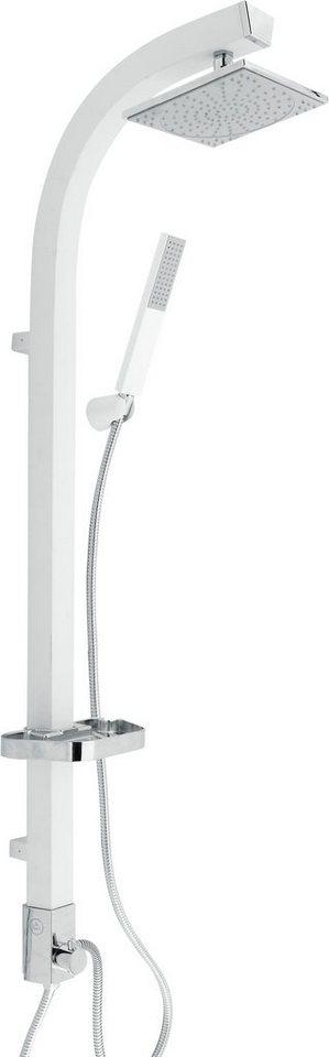 Überkopfbrause-Set »Madagaskar«, Durchmesser 17,5 cm in weiß