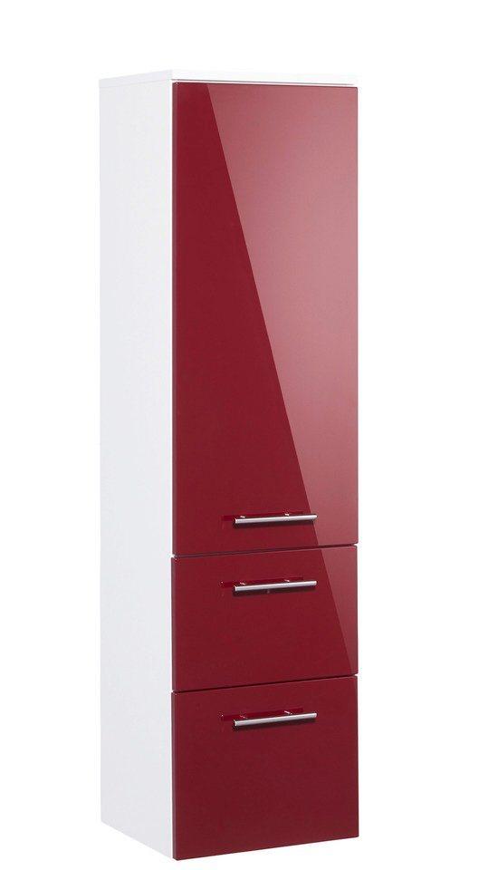 Midischrank »OPTIpremio 2043«, Breite 40 cm in bordeaux-rot/weiß matt