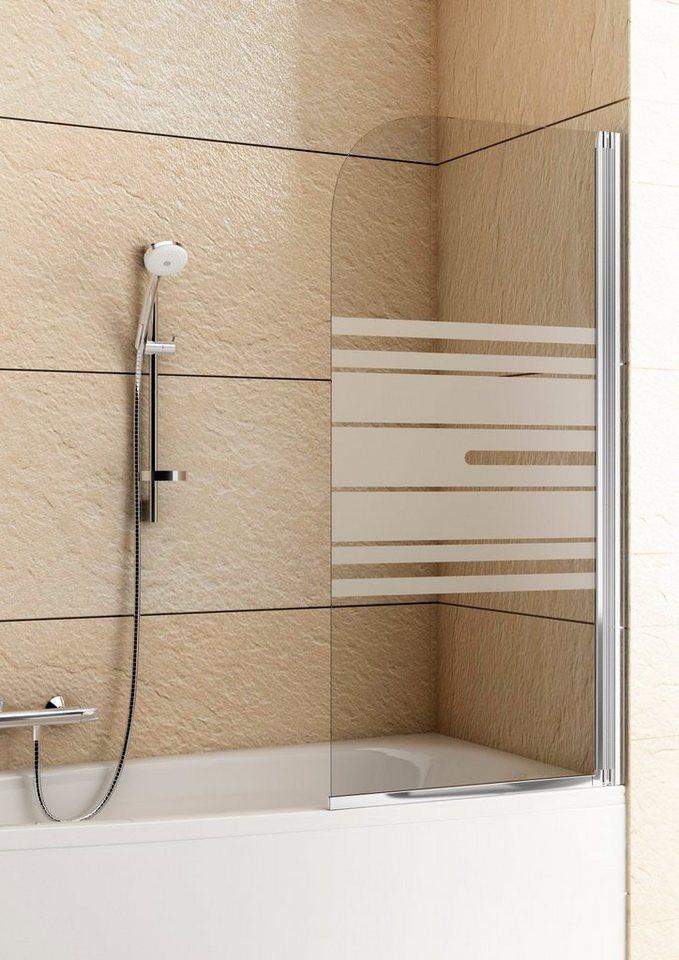 Badewannenaufsatz »Mit Dekor« in silberfarben