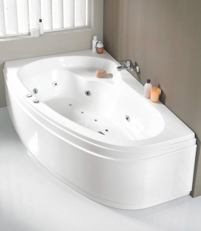 OTTOFOND Eckwanne »Loredana«, B/T/H in cm: 175/110/56, Whirlpool-System Premium