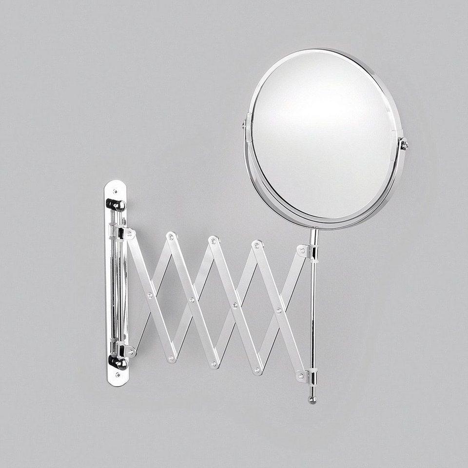 Spiegel / Kosmetikspiegel »3-fache Vergrößerung« Durchmesser 17 cm in silberfarben