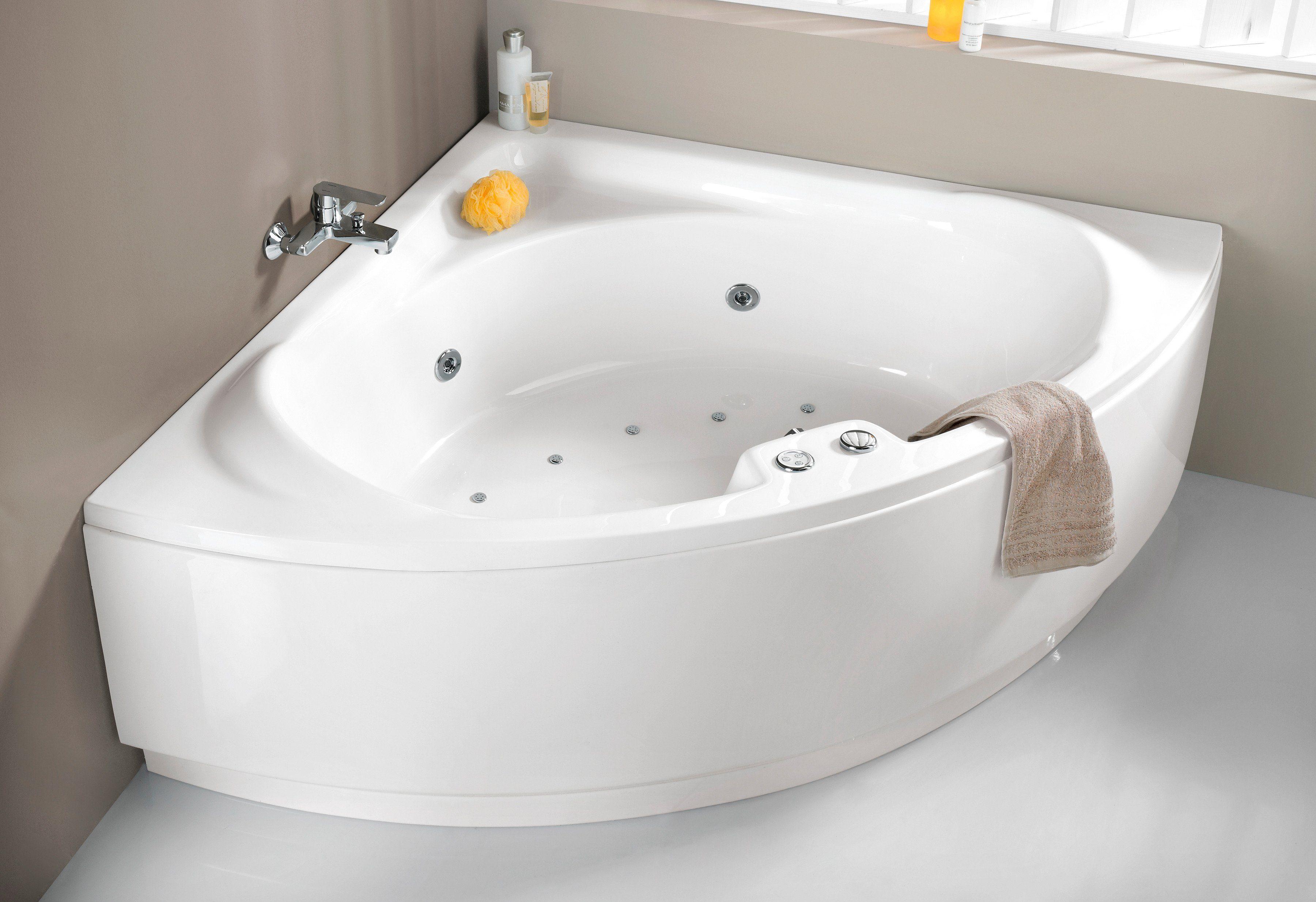 OTTOFOND Eckwanne »Laguna«, B/T/H in cm: 136/43/59; Whirlpool-System Premium