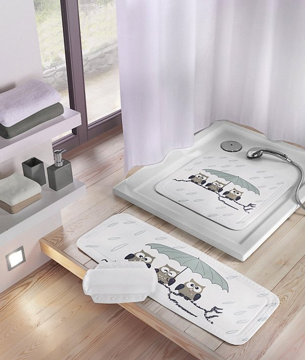 Duscheinlage »Eule« in weiß