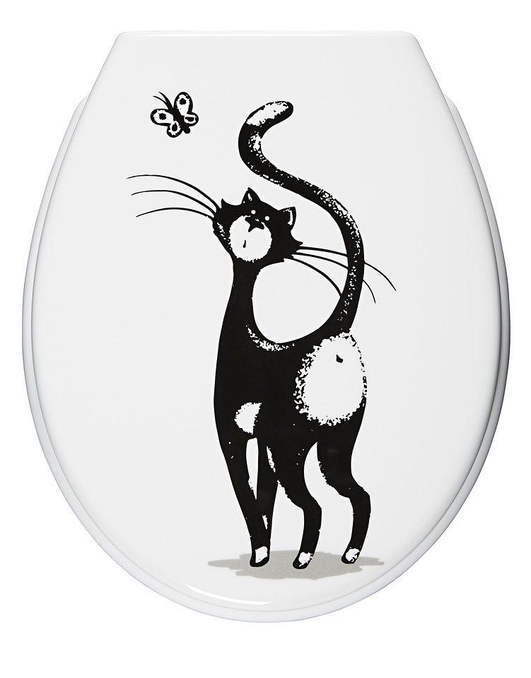 WC-Sitz »Katze«, Mit Absenkautomatik