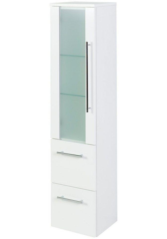 Held Möbel Midischrank »Prato«, Breite 30 cm in weiß