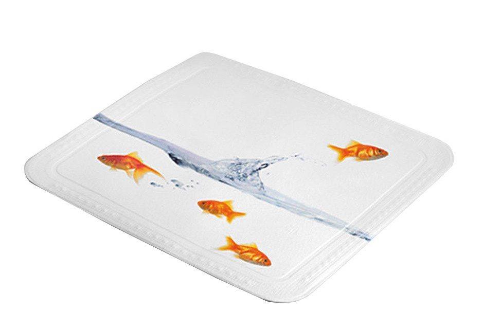 Duscheinlage »Goldfisch« in orange/weiß