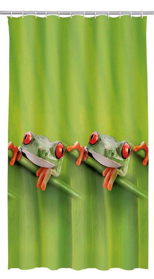 Duschvorhang »Frog« in grün