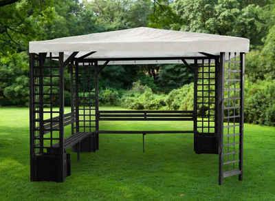 Gartenpavillon metall eckig  Metall Pavillon kaufen » Gartenpavillon aus Metall | OTTO