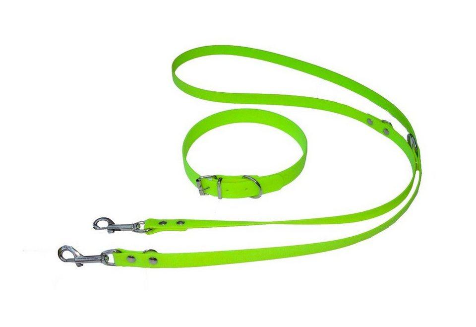 Hundeleine »Biothane -Set« grün in grün