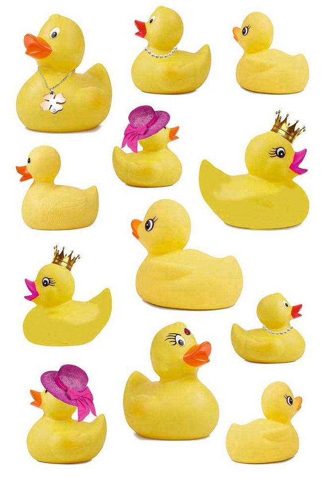 Wandfolie »Statics Duckie« in gelb