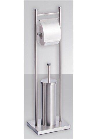WC-Garnitur in silberfarben