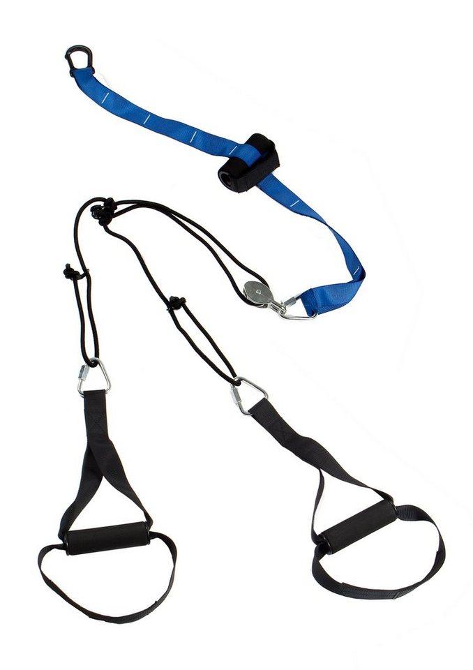 Schlingentrainer mit Umlenkrolle, »Evolution SP-TX-002«, Sportplus in blau-schwarz