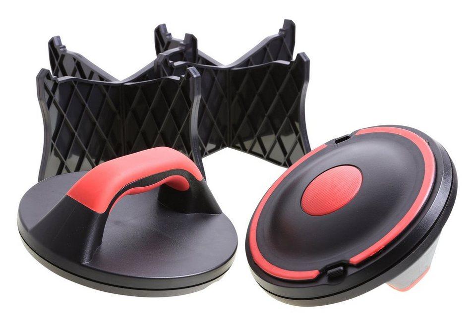 Liegestützgriffe, »Push-up Extreme SP-PUB-004«, Sportplus in schwarz-rot