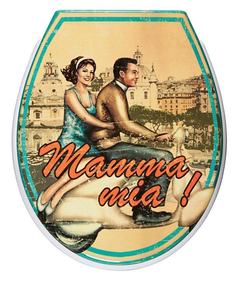 WC-Sitz »Mamma Mia!«, Mit Absenkautomatik in bunt