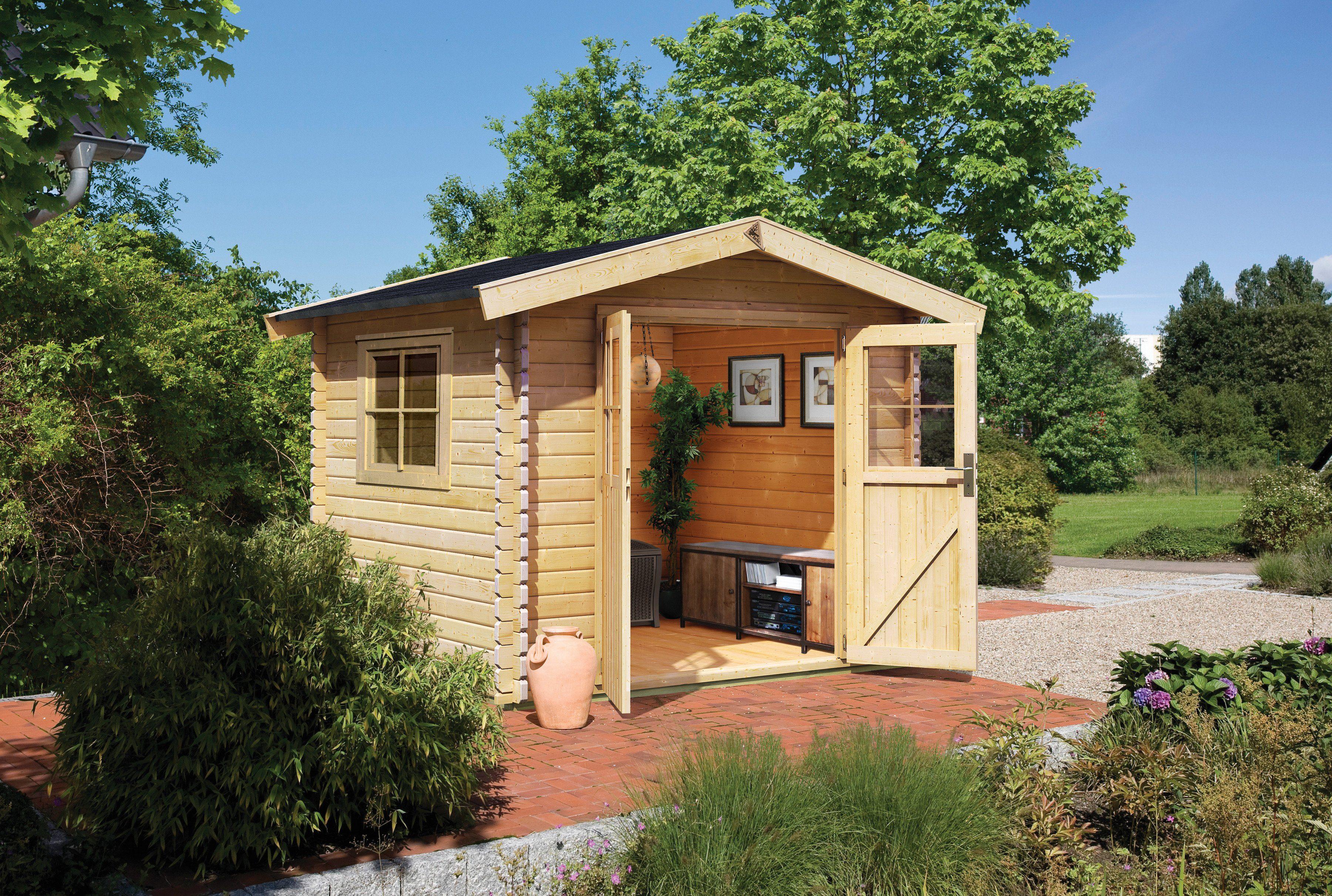 Karibu Gartenhaus »Köpenick 2«, BxT: 238x238 cm
