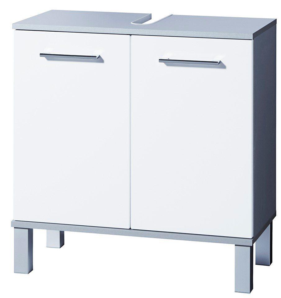 Waschbeckenunterschrank »Prato« in weiß/silberfarben