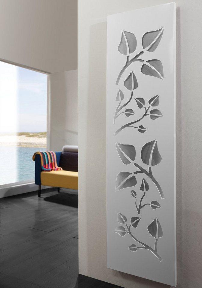 Design-Badheizkörper »Leaves« in weiß/silberfarben