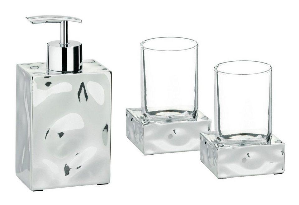 Bad-Accessoire-Set »Verbera«, 3-teilig in transparent