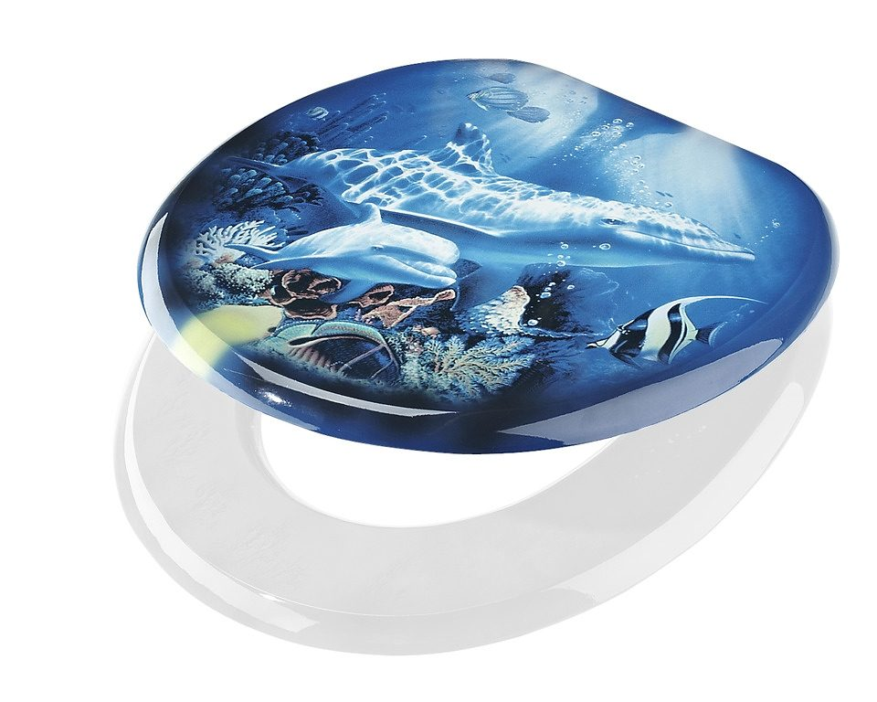 WC-Sitz »Delfin«, Mit Absenkautomatik