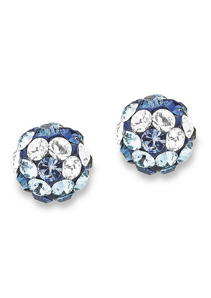 Paar Ohrstecker, »9058822«, s.Oliver Junior in Silber 925/blau