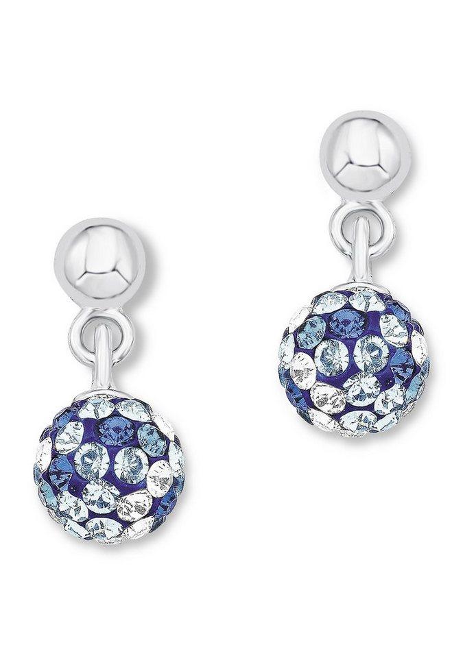 Paar Ohrstecker, »9058730«, s.Oliver Junior in Silber 925/blau