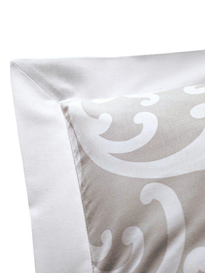 Kissenhülle, 2er-Set in beige/weiß