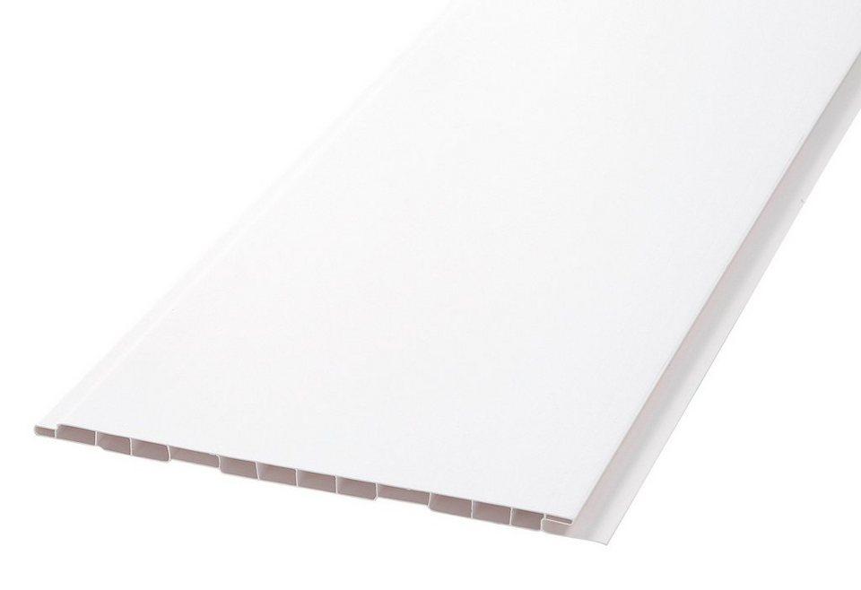 Verkleidungspaneele B 20 glatt Profiline, 2,7 m² in weiß