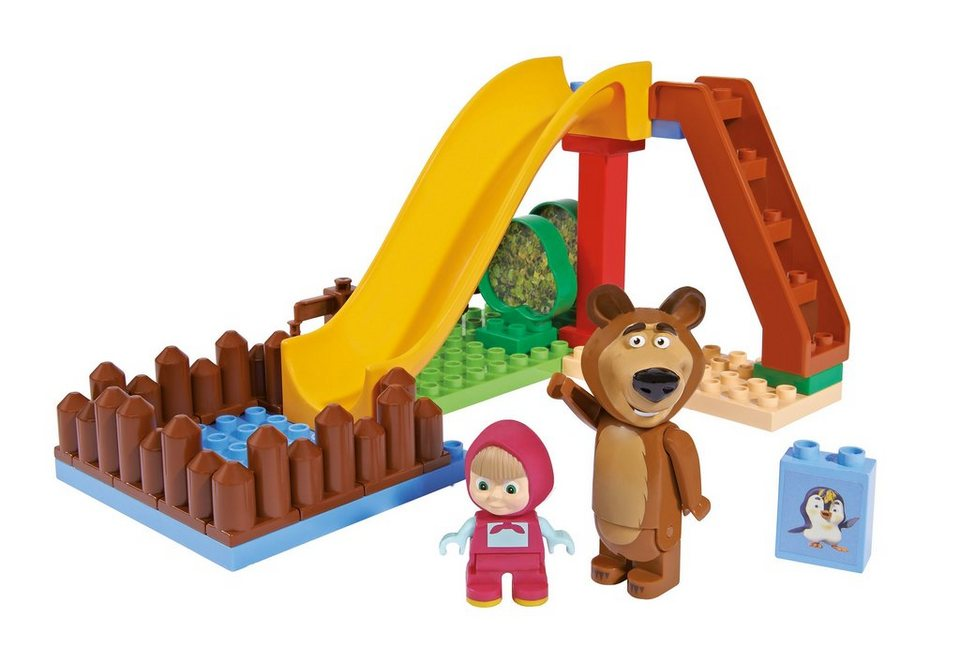 Spielset PlayBIG Bloxx Masha and The Bear Pool Fun, BIG (29tlg.)