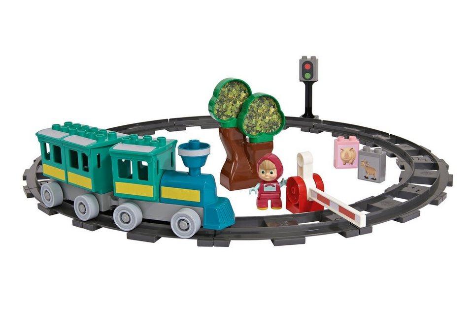 BIG Spiellandschaft mit Eisenbahn, »PlayBIG Bloxx Mascha und der Bär - Train Fun« (32tlg.)