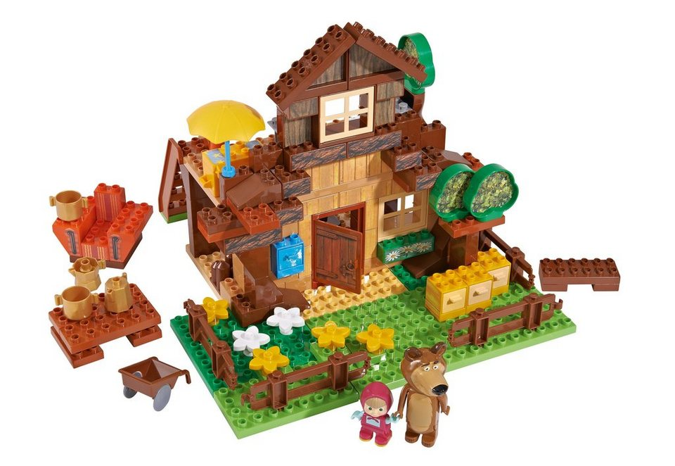 Spiellandschaft, PlayBIG Bloxx Masha and The Bear Bear's House, BIG (162-tlg.)