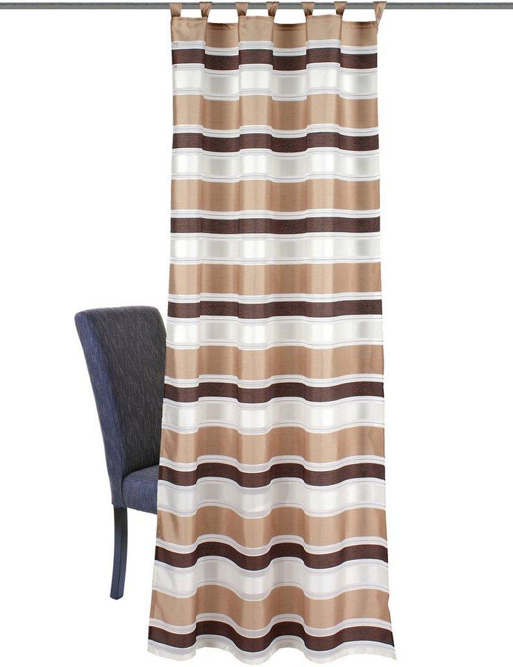 Vorhang, Home Wohnideen, »Fairhope«, mit Schlaufen (1 Stück) in braun