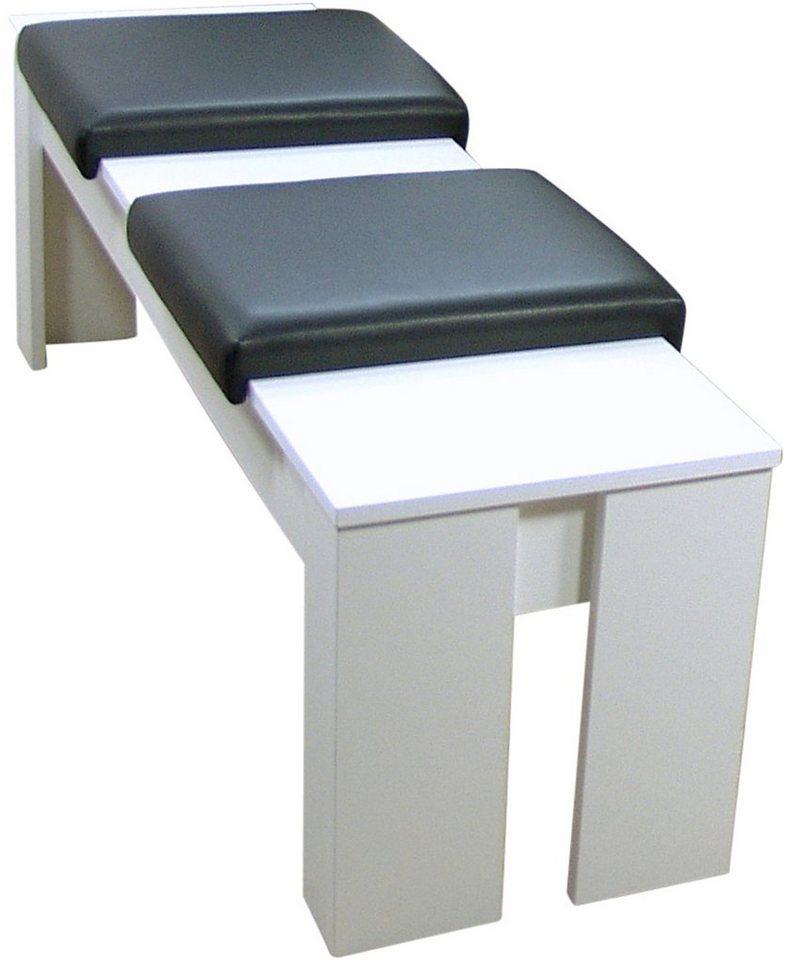 Sitzbank, Breite 120 cm, incl. abnehmbarer Sitzpolster