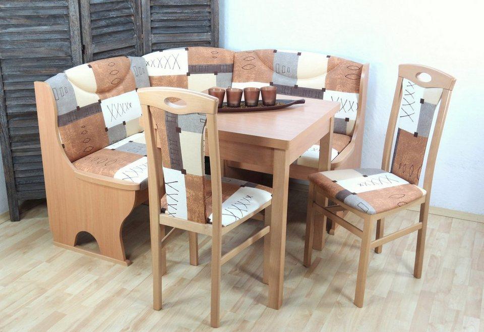 truhen eckbankgruppe 4 tlg online kaufen otto. Black Bedroom Furniture Sets. Home Design Ideas