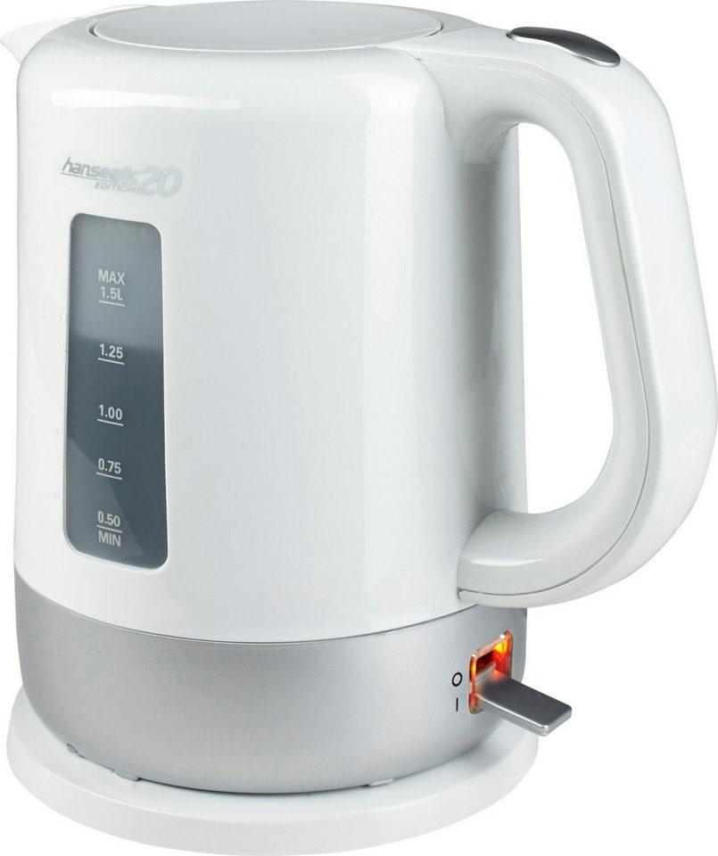 Hanseatic Wasserkocher Edition 20, 1,5 Liter, bis 2000 Watt in weiß