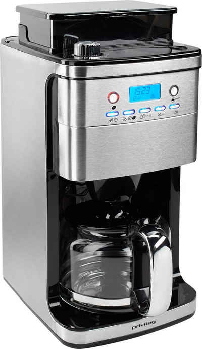 Privileg Kaffeemaschine mit Mahlwerk CM4266-A, 1,5l Kaffeekanne, Papierfilter 1x4, für ganze Bohnen oder gemahlenen Kaffee geeignet